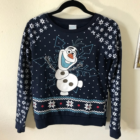 Disney Tops - Disney Olaf Frozen Snowman Snowflake Sweatshirt